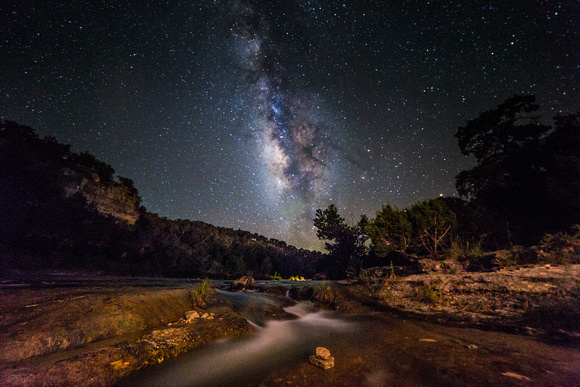 Milky Way over the Guadalupe river (1)